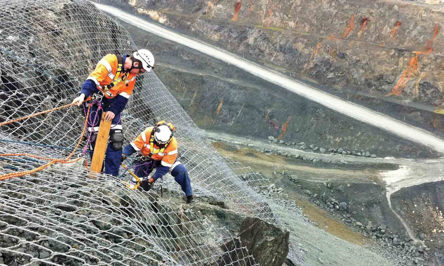 Australian ground engineering solutions and rockfall mesh and architectural