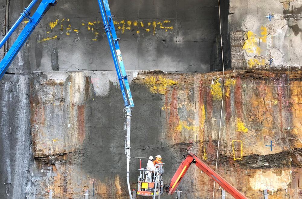 SHOTCRETE CAVERN WALLS